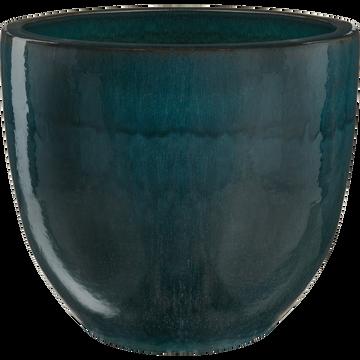 Cache-pot bleu en céramique D58xH50cm-KOSON