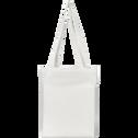 Housse de couette en percale de coton Blanc Ventoux 260x240cm-FLORE