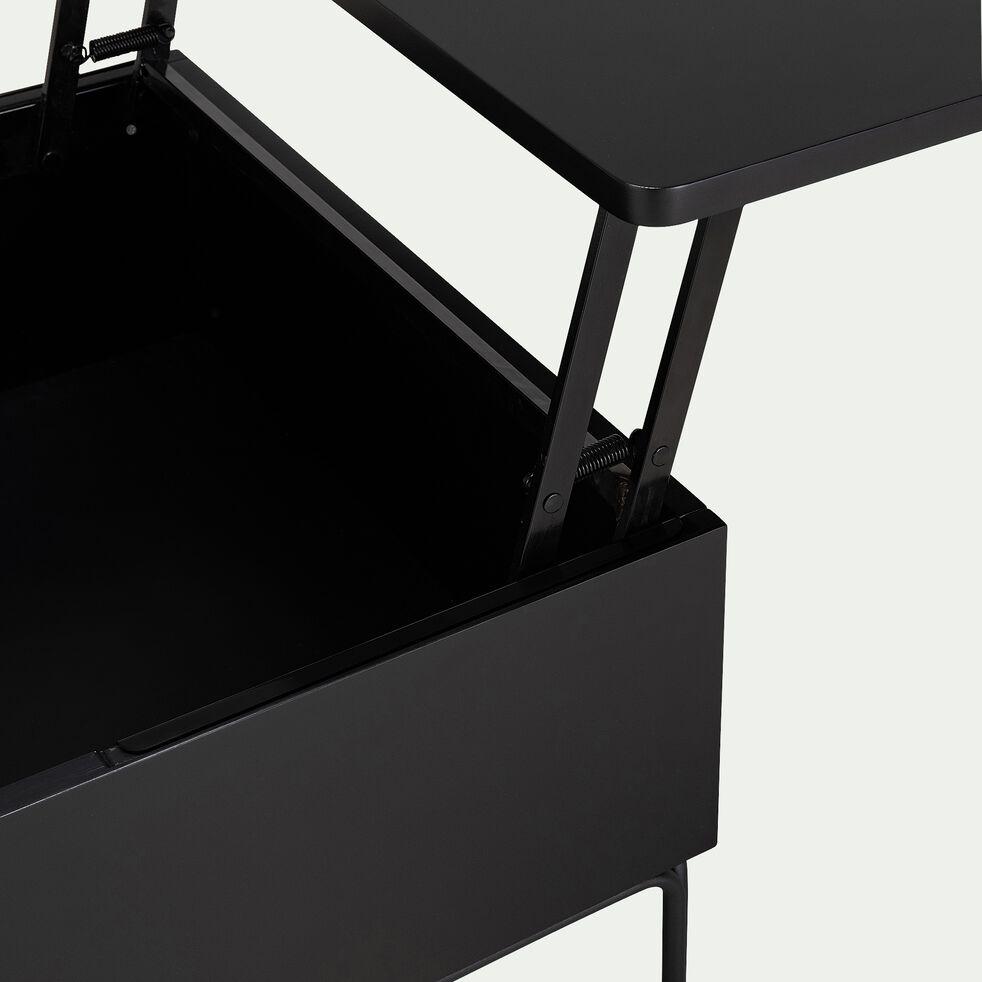Table basse avec rangement et plateau relevable - noir-ZE