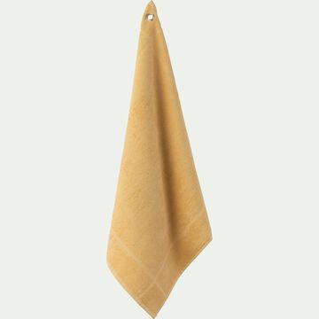 Carré éponge 50x50cm en coton jaune-PANISSE