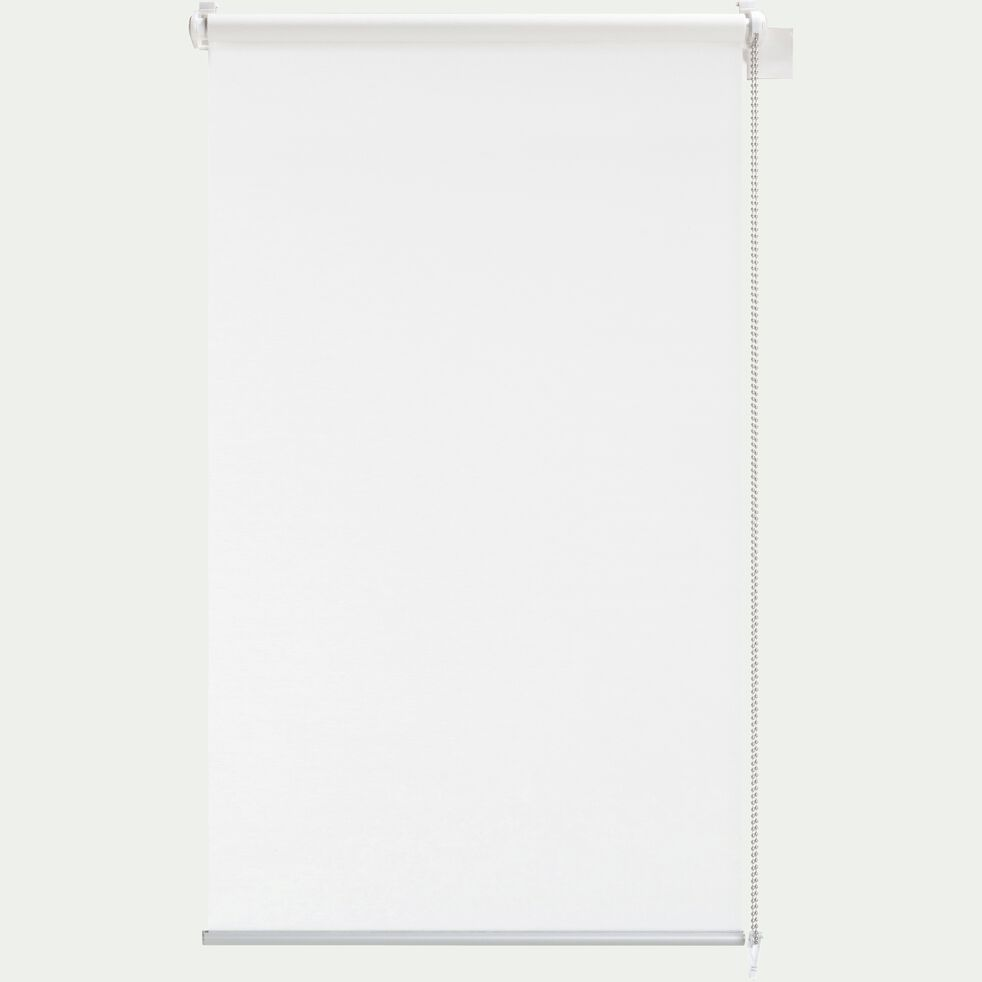 Store enrouleur voile - blanc 37x170cm-EASY VOILE