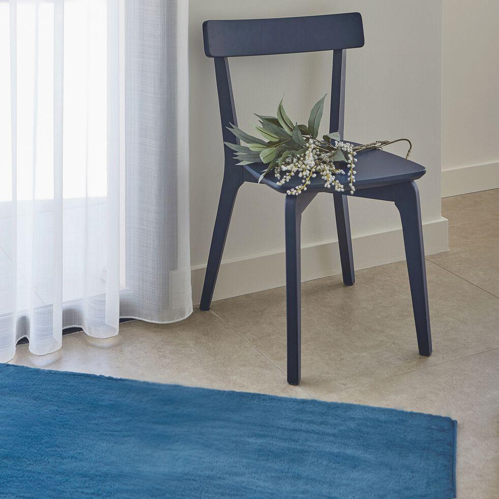 Tapis imitation fourrure - bleu figuerolles 100x150cm-ROBIN
