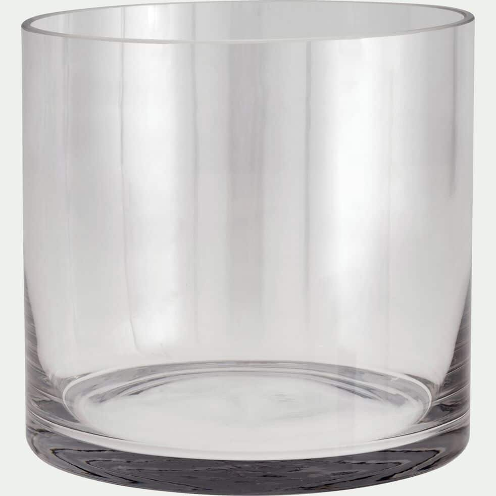 Vase tube en verre - transparent H17cm-SABBIA
