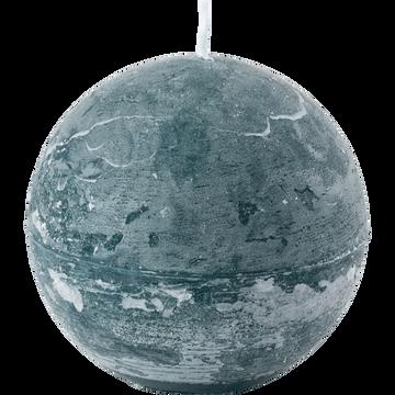 Bougie ronde bleu niolon D10cm-BEJAIA