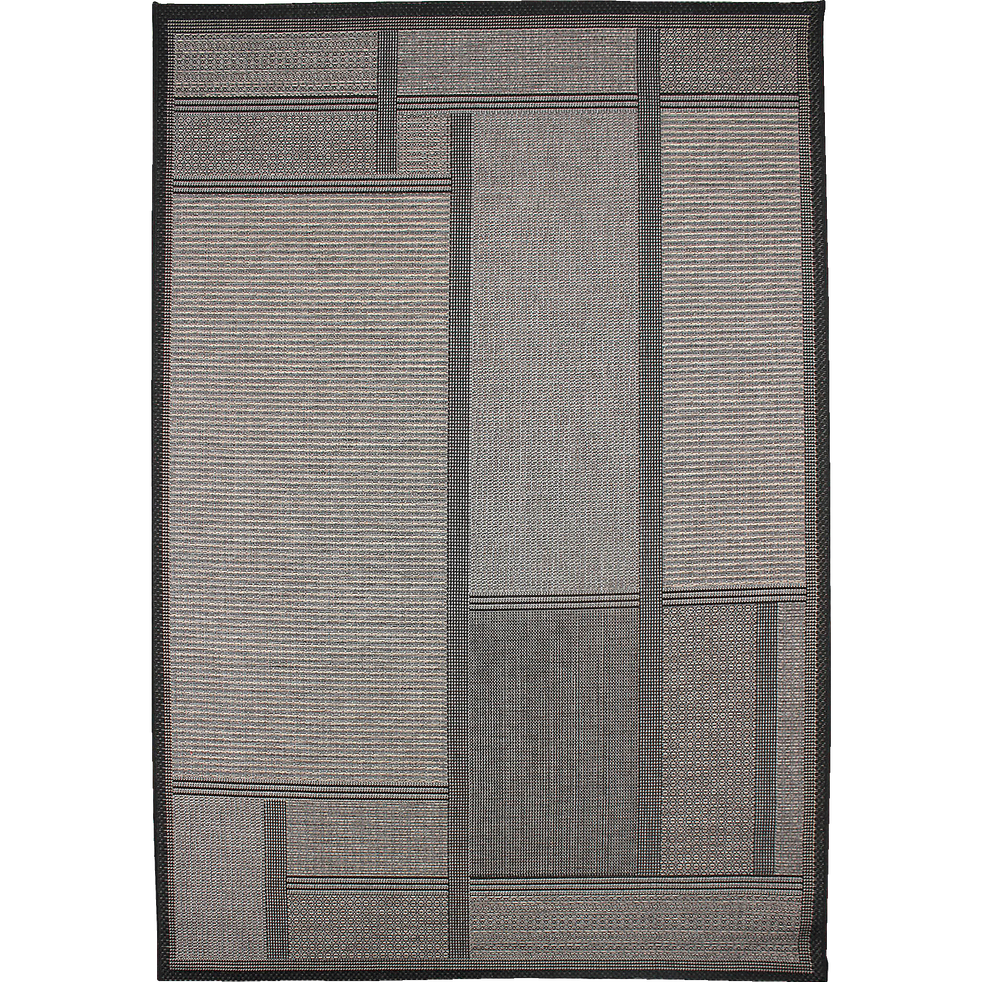 tapis int rieur et ext rieur gris fonc 160x230cm liv 160x230 cm tapis d 39 ext rieur alinea. Black Bedroom Furniture Sets. Home Design Ideas