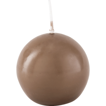 Bougie ronde brun châtaigner D6cm-HALBA