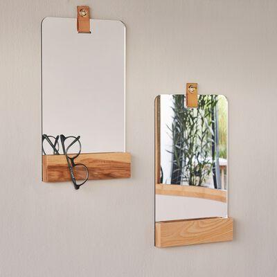 Miroir de salle de bains rectangulaire en bois-GANDIN