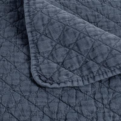 Couvre-lit effet lavé bleu figuerolles 230x250cm-THYM