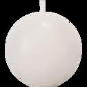 Bougie ronde blanc nougat D6cm-BEJAIA