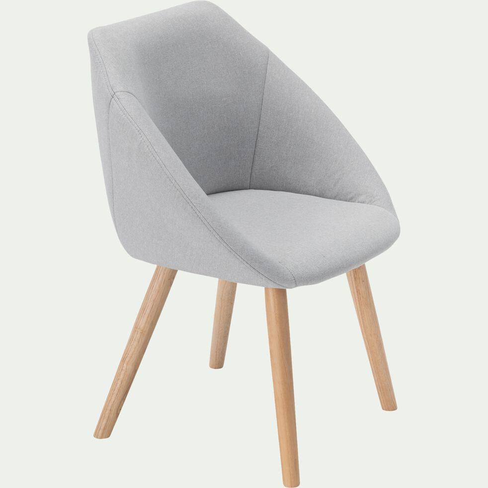 Chaise en tissu avec accoudoirs - gris borie-ELIA