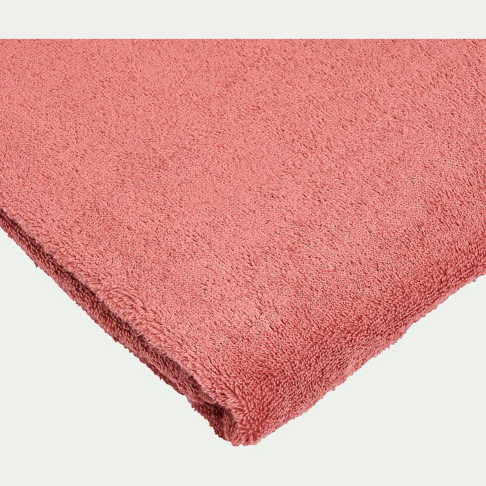 Drap de douche en coton peigné -  rouge ricin 70x140cm-AZUR