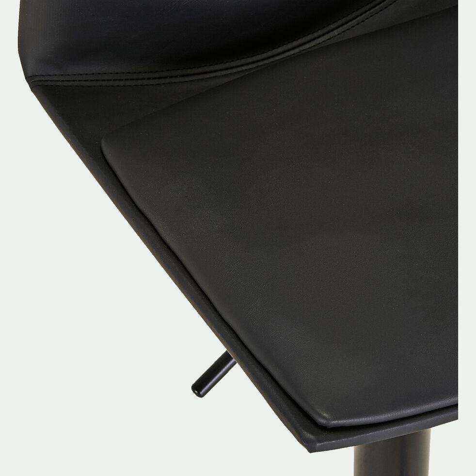 Chaise de bar ajustable en tissu - noir H60 à 81cm-THORONET