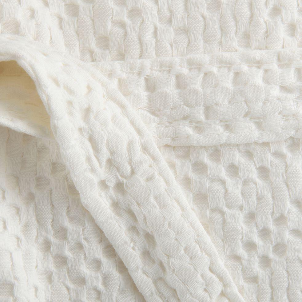 Peignoir en coton - blanc ventoux L/XL-CLEMATIS