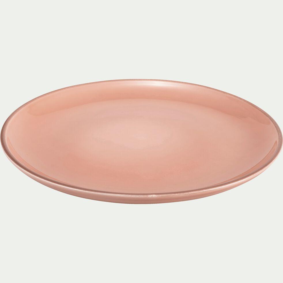 Assiette à dessert en faïence rose grège D20cm-LANKA