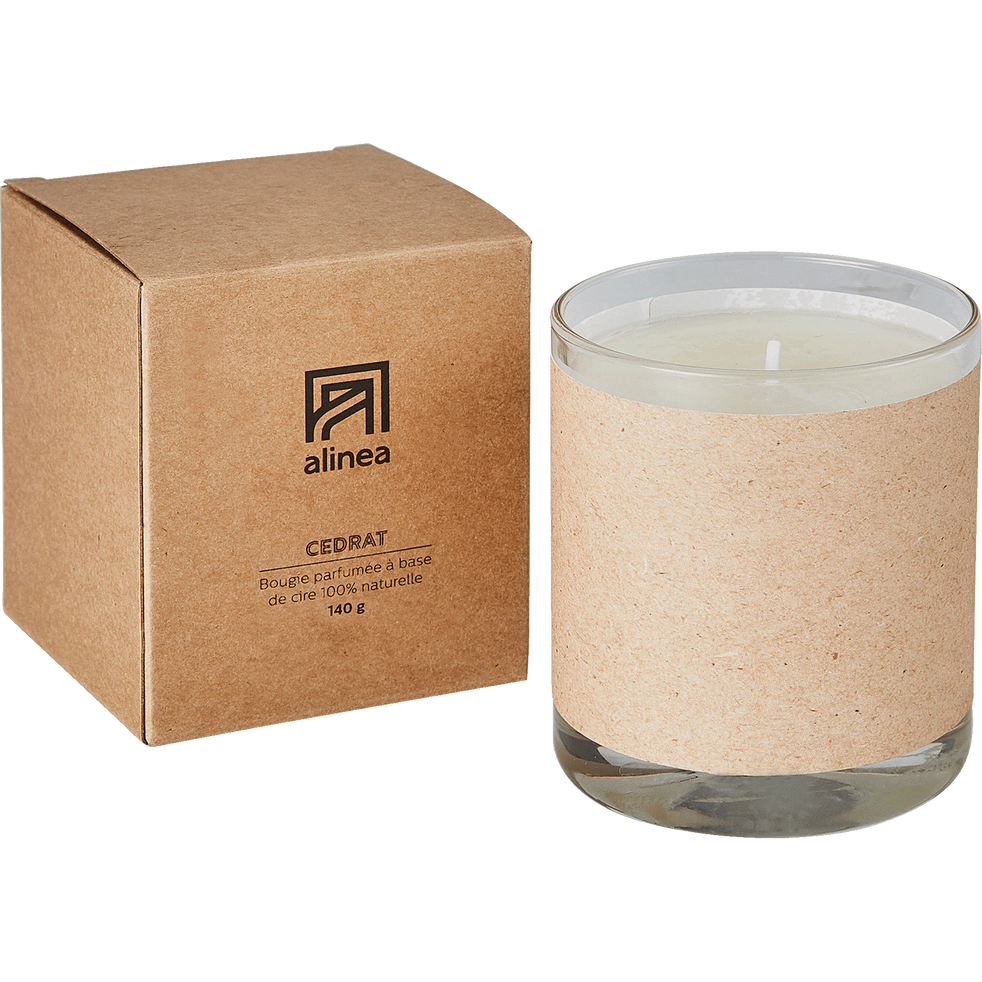 Bougie parfumée Cedrat 140g-BASIC