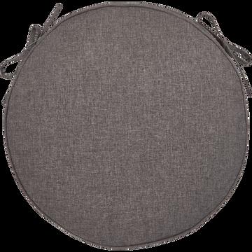 Galette de chaise de jardin grise D45cm-LUCIA