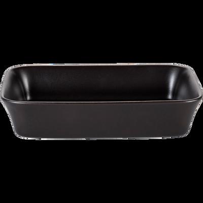 Plat à four rectangulaire en grès noir 26x18cm-ALVARA