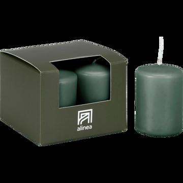 4 bougies votives vert cèdre-HALBA