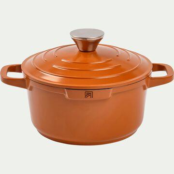 Cocotte en fonte d'aluminium orange D20cm-EUS