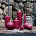 Bougie cylindrique rouge sumac-HALBA