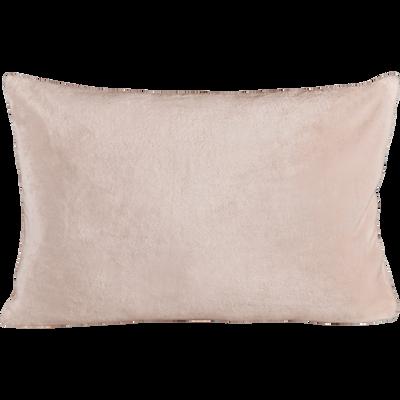 Housse de coussin effet doux rose argile 40x60cm-ROBIN