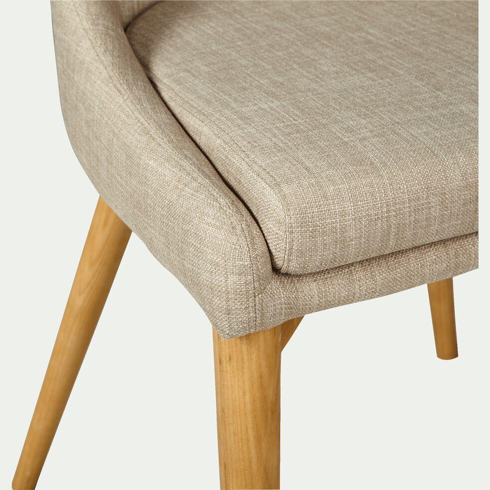 Chaise en tissu - beige-ABBY