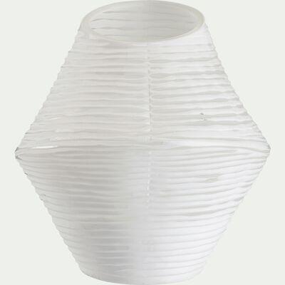 Vase en verre blanc - H24cm-MATIJA