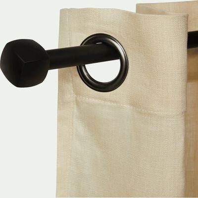 Kit tringle en acier noir extensible 120 à 210 cm-LISON