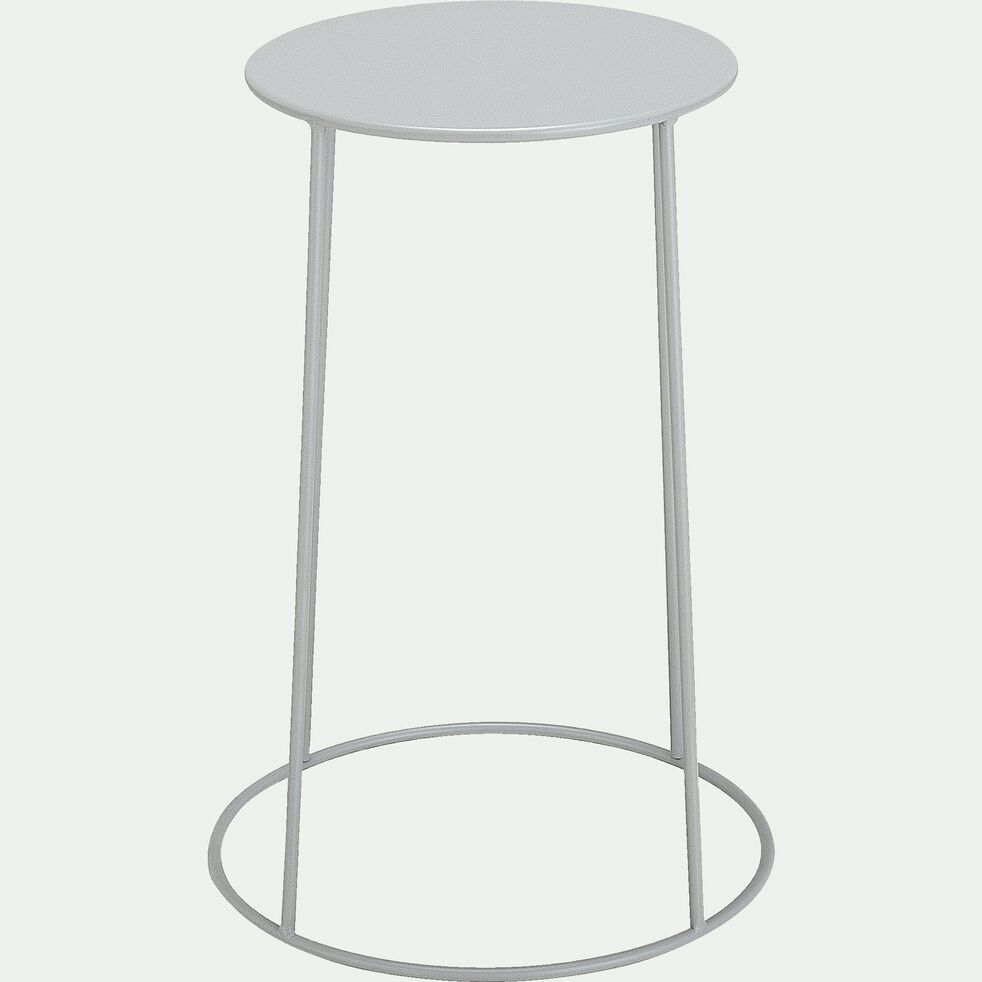 Table d'appoint de jardin - gris vesuve (D35cmxH63cm)-Ikaria