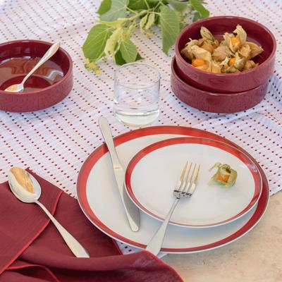Coupelle en faïence rouge sumac D15,5cm-VADIM