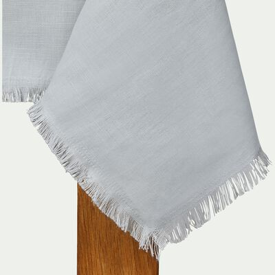 Nappe en lin et coton gris borie 170x250cm-CASTILLON