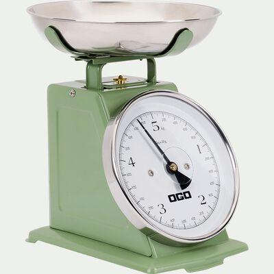 Balance de cuisine mécanique en inox - vert-RAMEL
