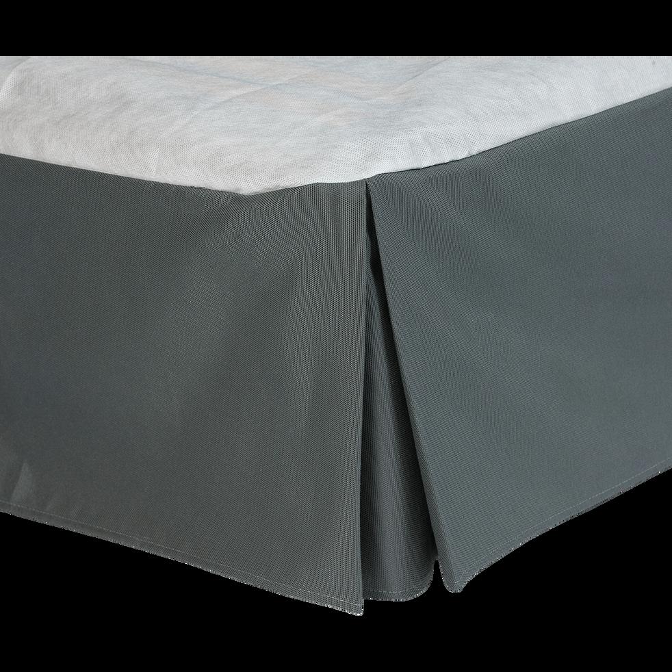Cache-sommier gris anthracite 32cm - 140x200 cm-OPALINE