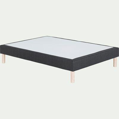 Sommier tapissier 140x190cm gris anthracite-REDON