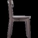 Chaise en bois marron ombré-SUZIE