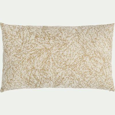 Coussin à motif floral doré 30x50cm-GINKO