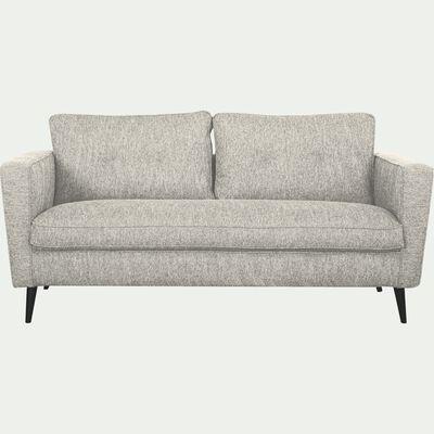 Canapé fixe 3 places en tissu - gris borie-BARTHOLE