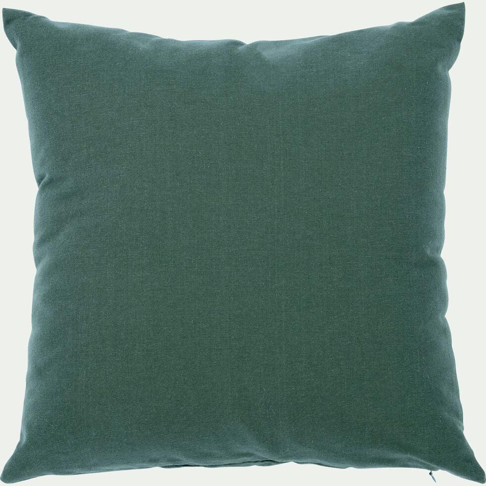 Coussin en coton - vert cèdre 40x40cm-CALANQUES