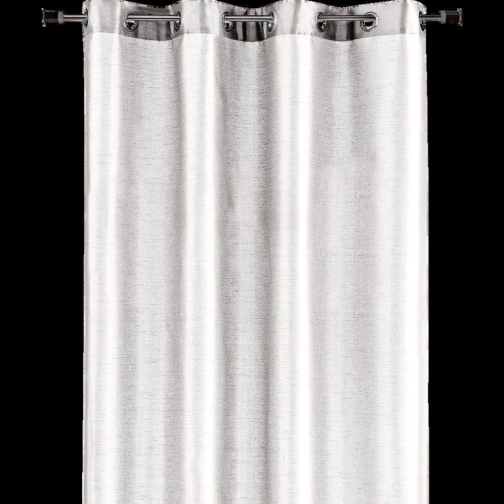 Rideau à oeillets blanc 140x250cm-SAGA