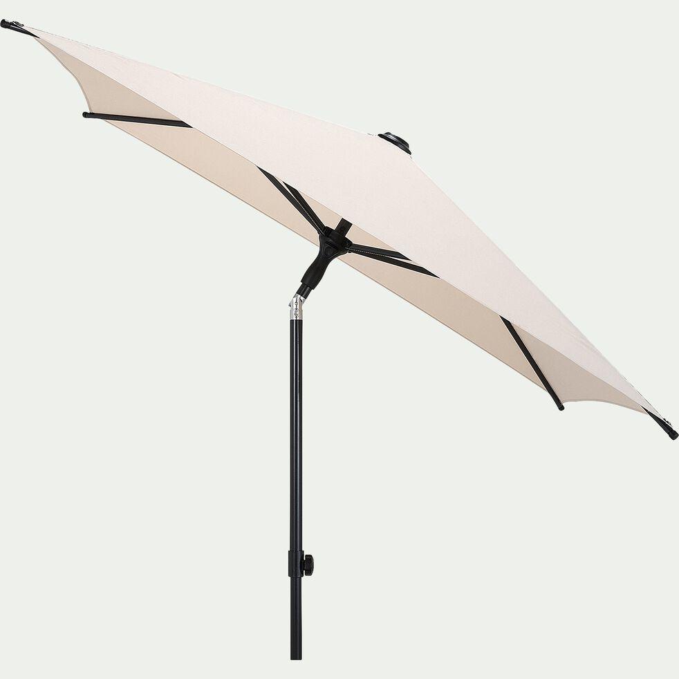 Parasol de balcon avec mât inclinable - beige alpilles (160x200cm)-Pitchoun
