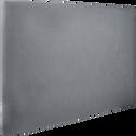 Housse pour tête de lit Topaze Gris restanque - L160 cm-TOPAZE