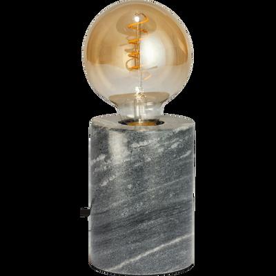 Lampe en marbre gris H12,5xD9cm-PRAO