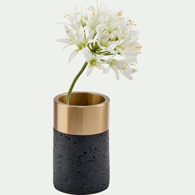 Vase en résine et métal H16 cm-APORO