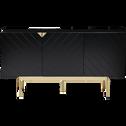 Buffet 3 portes coloris noir et doré-CABRI