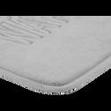 Tapis de bain 50x50cm à mémoire de forme gris-WATER