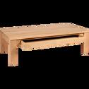 Table basse en chêne massif avec 1 tiroir traversant 150x80cm-EMOTION