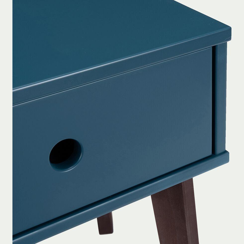Table de chevet en bois plaqué - bleu figuerolles-SACHA