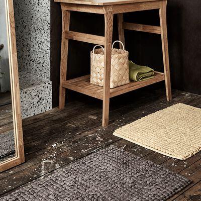 Tapis de bain en coton brun châtaigner 80x50cm-JAN