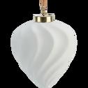 Boule de Noël en céramique blanche D7,5cm-VENTURE
