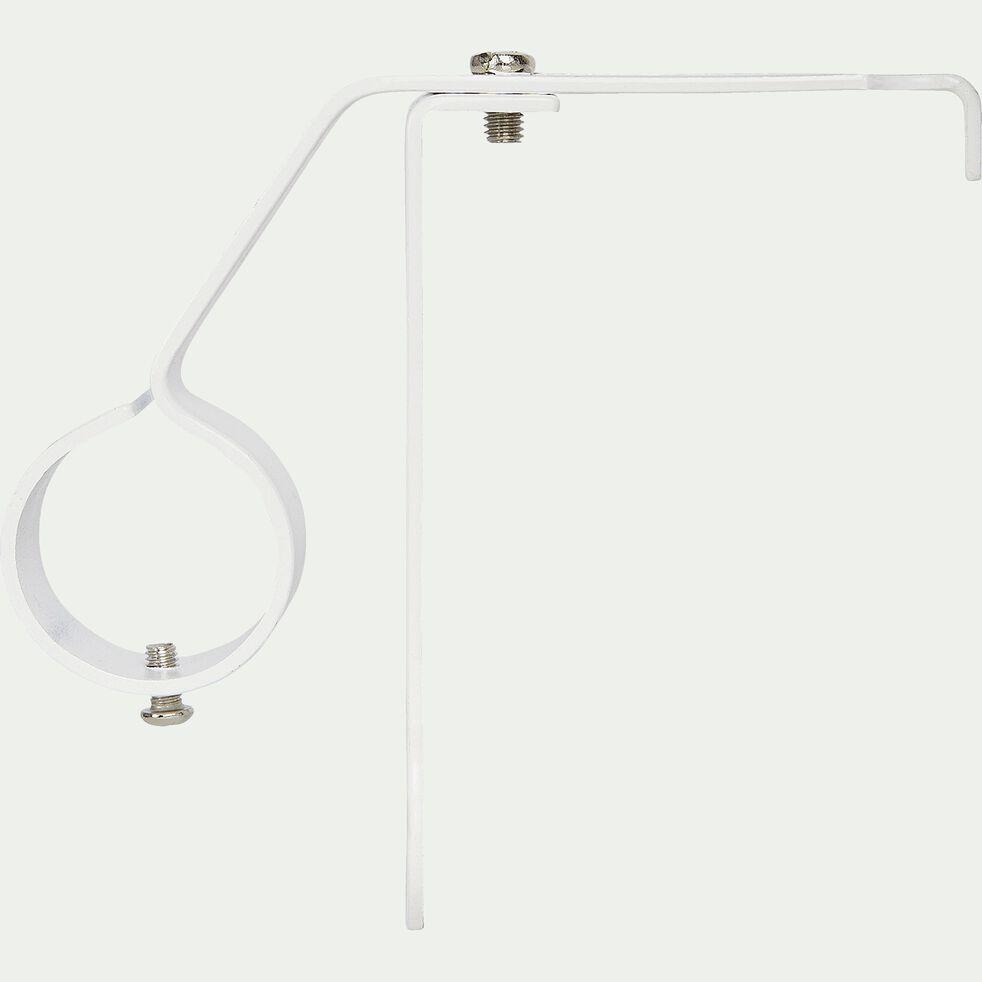 Support de tringle en acier pour coffre de volets roulants - blanc D28mm-SOLI